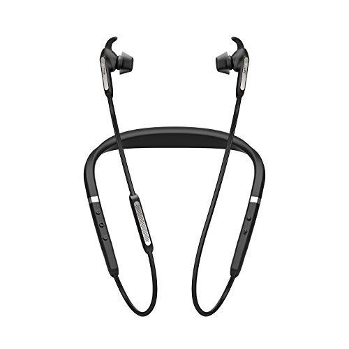 Jabra Elite 65e Wireless Stereo ANC in-Ear-Kopfhörer (Bluetooth, professionelles Active Noise Cancellation, Nackenbügel, Sprachsteuerung für Alexa, Siri und Google Assistant) titan schwarz thumbnail