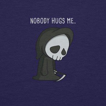 Planet Nerd - Nobody Hugs Me - Damen T-Shirt Dunkelblau