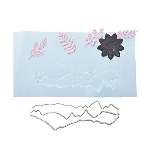 Nankod Stanzschablone aus Metall, unregelmäßiges Muster, für Scrapbooking, Album, Stempel, Papier, Karten, Prägung, Basteln und Dekorieren
