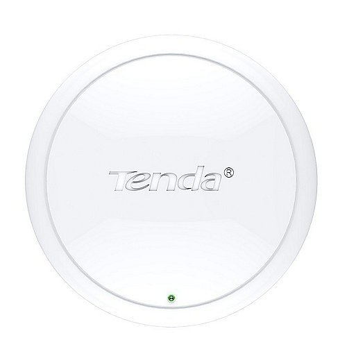 Tenda I12 300 MBit/s WLAN Access Point mit Gigabit Port (POE 8023at, QoS, VLAN Tagging für Multi SSID, Einfache Montage, Zentralisiertes Management, 64/128-bit WEP, WPA, WPA2, WPA2-PSK, Weiß, Wand, System, LAN)