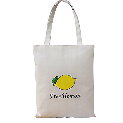 sundatebe , Damen Tote-Tasche White Banana Einheitsgröße White Lemon
