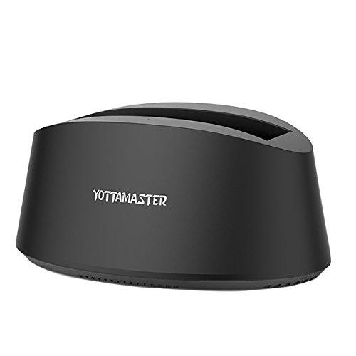 [ UASP&10TB ] Yottamaster USB 3.0 Festplatten Docking Station für 2,5/3,5 Zoll HDD SSD SATA I/II/III mit USB 3.0 Kabel und 12V2A Netzteil Werkzeuglose Windows/Mac/Linux