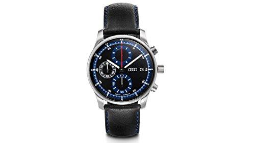 Audi 3101700300 Chronograph Armbanduhr, schwarz/blau