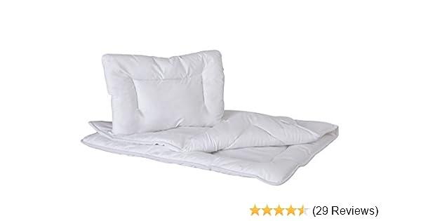 Plain White Anti Allergy Duvet /& Pillow Set//Baby Cot Duvet Size 135x100cm