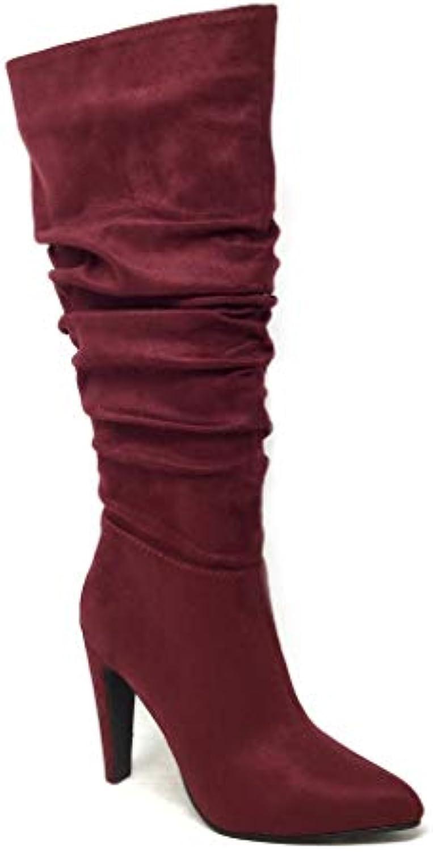 Angkorly - Scarpe Moda Stivali Stivali Stivali - Scarponi Flessibile Roccia Cavalier Donna Basic Tacco a Blocco Alto 11 CM | Sconto  8c9ab6