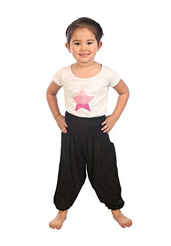Lofbaz pantaloni da bambini Smocked Waist Boho Harem Aladdin