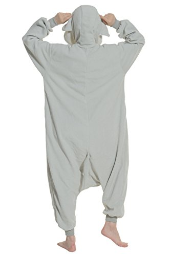 Imagen de dato ropa de dormir pijama elefante gris cosplay disfraz animal unisexo adulto alternativa