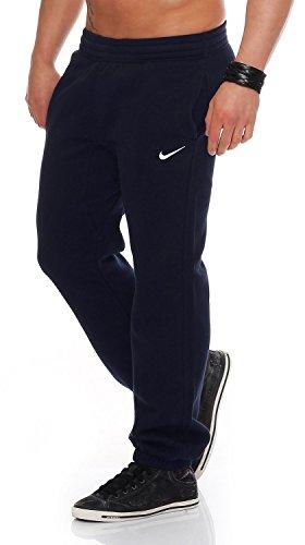 Nike Herren Trainingsanzüge Hosen Mens Fleece Jog Pants Swoosh Club Tracksuit Bottoms Joggers Black, Grey, Navy Sizes S M L XL New 611459 (Navy, S) Nike Fleece-navy