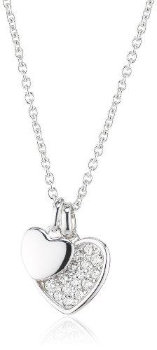Fossil Damen Halskette 925 Sterling Silber Zirkonia 47.0 cm weiß JFS00196040