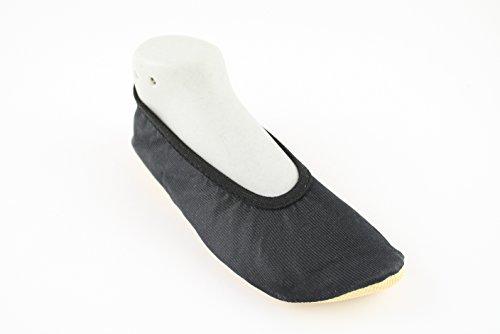 SATIN #43 - Turnschläppchen aus Deutschland -YUMP YUMPZ- Gymnastikschuhe / Saalturnschuhe / Ballettschuhe / Flats ? für Mädchen und Jungen -in verschiedenen Größen. Schwarz