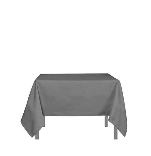 Tischdecke mit Fleckschutz quadratisch 180x180 cm ALIX grau