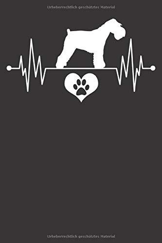 Mini Schnauzer Notizbuch: Mini Schnauzer Herzschlag EKG Herz Pfote Liebe 6x9 Notizbuch 120 Seiten liniert