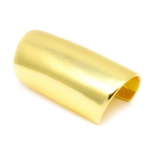 n, lang, glatt, Ear Cuff Clip Oben Ohrstecker Helix Non auf, goldfarben ()
