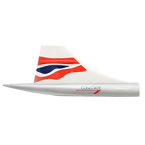 SOCATEC- Prensa de Papel Deriva de Concorde British Airways Chatham Dockyard, 36 x 14 cm, Resina, 16519, Color Blanco