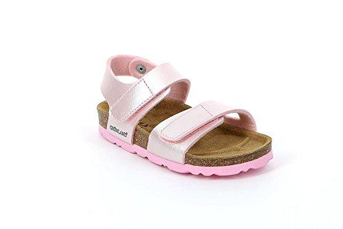 Grünland LUMIÈRE SB0115 24/30 bleues sandales militaires enfant boucles Birk Rose