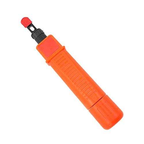 MagiDeal Anlegewerkzeug, Auflegewerkzeug, Netzwerk, Kabel Tool, Punch Down Tool - Orange (Punch Down Krone Tool)