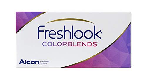 FreshLook Colorblends Mandelgrün Monatslinsen weich, 2 Stück / BC 8.6 mm / DIA 14.5 / 0 Dioptrien (Dunkel Mit Mandeln Spezielle)