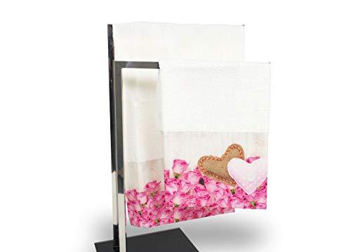 Set de serviettes et serviettes de bain en impression numérique ligne fresh mai Telo Bagno Mai