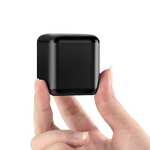 Eageroo Lautsprecher klein Bluetooth Mini Lautsprecher tragbar Speaker,Stereo Klang mit tiefem Bass Technologie,TWS,schwarz