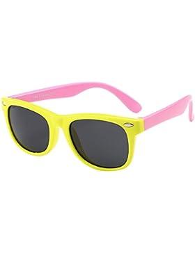 KINDOYO Unisexo Gafas de Sol para Niños Niñas Flexible Rubber Deportivas Polarizadas Wayfarer Gafas