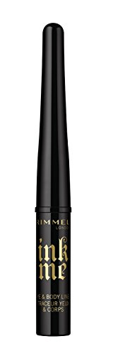 Rimmel London Tinte Me Auge und Körper rutschsicher, 3,5 ml, 001 Pitch Black (Tattoo Intensive Tinte)