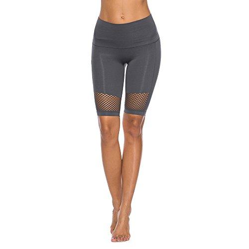 Zolimx Sports Shorts für Frauen, Running Yoga Shorts mit Seitentasche, Fitness Sports Tights