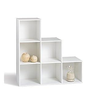 Alsapan Compo 3 x 2 x 1 Stepped Unit with Melamine, 91 x 91 x 29.5 cm, White Finish