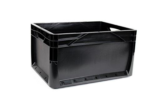 10x 20LITER Euronorm Eco Industrie Kunststoff Stapeln, Euro Aufbewahrung Container Boxen Kisten schwarz