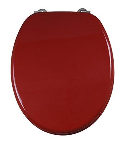 Cornat WC-Sitz MODENA rot / Toilettensitz / Toilettendeckel / Klodeckel / WC-Deckel / Holzkern (MDF) / KSH45