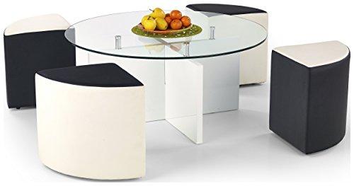 Justyou latoya tavolino da salotto tavolo dappoggio 4 sgabelli