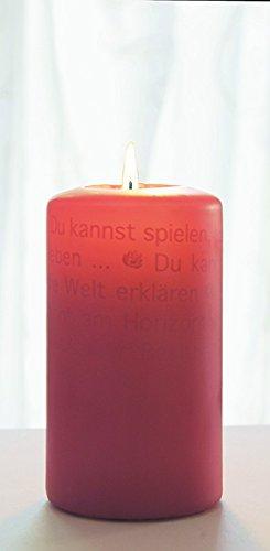 Preisvergleich Produktbild Wortlichtkerze Sinntexte FÜR DIE BESTE OMA DER WELT Bulla Design