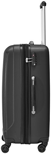Packenger Velvet Koffer, Trolley, Hartschale 3er-Set in Schwarz, Größe M, L und XL - 3