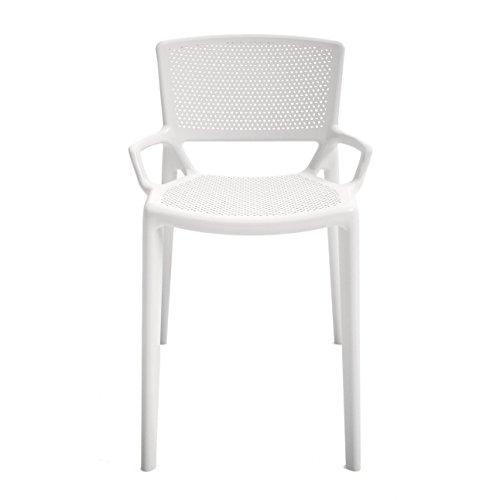 Infiniti Fiorellina Stuhl perforiert, weiß Sitz- und Rückenfläche perforiert