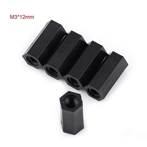 Zylinderschrauben mit Innensechskant M3 Umweltfreundliches Nylonmaterial mit Sechskantmuttern-Unterlegscheiben Sortiment Geeignet für die Kommunikationsbranche Galvanotechnik Medizinprodukte(M3*12)