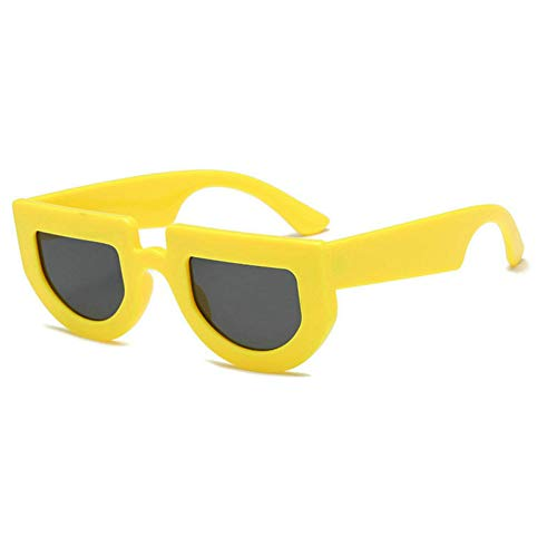 GBST Men's And Women's Fashion Big-Name Connected Mesh Sunglasses Street Beat Ink Sunglasses,Yellow Gray