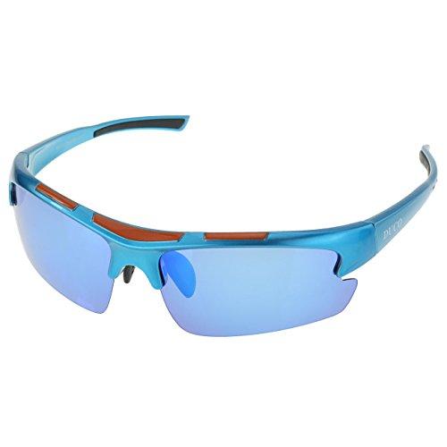 DUCO polarisiert Designer Mode Sport-Sonnenbrille für Sport Fahrrad Angeln Golf TR90 super leichter Rahmen 6200 (Blau)