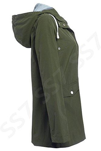 SS7 Femmes Coupe Vent Imperméable, Marine, tailles 38 à 16 Kaki