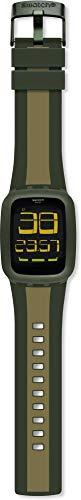 Swatch Orologio Digitale Quarzo Unisex Adulto con Cinturino in Silicone SURG101D