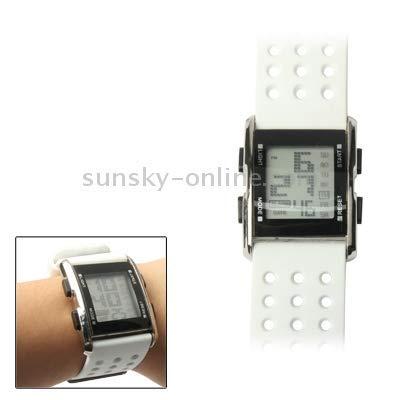 LYDB Uhr Multifunktions-Farb-LED-Digital-Sportuhr (weiß) (Watch Band 30mm Weiß)