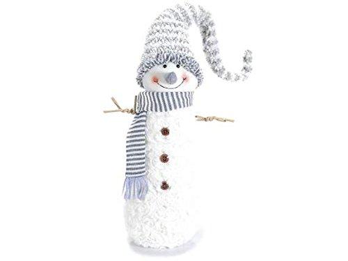 Muñeco de nieve con bufanda y gorro de Retro