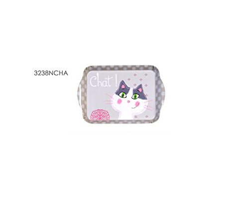 FOX TROT - 3238NCHA - MINI PLATEAU INDIVIDUEL EN MELAMINE 21X14 CM DECOR CHAT