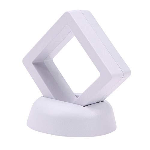 TOPBATHY 10 stücke Münzenständer 3D-Objektrahmen münzkapsel für Münzen Medaillon Chip Schmuck(Weiß) -