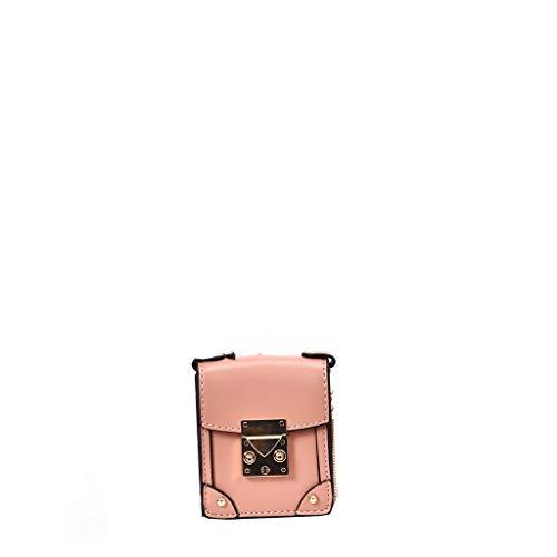 arbig Kette Schulter Geschlungene Tragbare Klein Satteltasche Umhängetasche Mädchen Tasche Schultertasche Damenhandtasche Metallgriff Henkeltasche ()