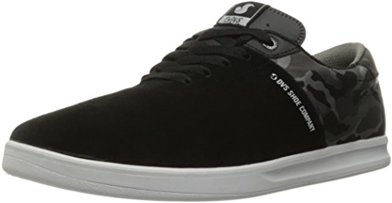 DVS Men's Rico SC Skateboarding Shoe  Black Suede/Camo  7 M US