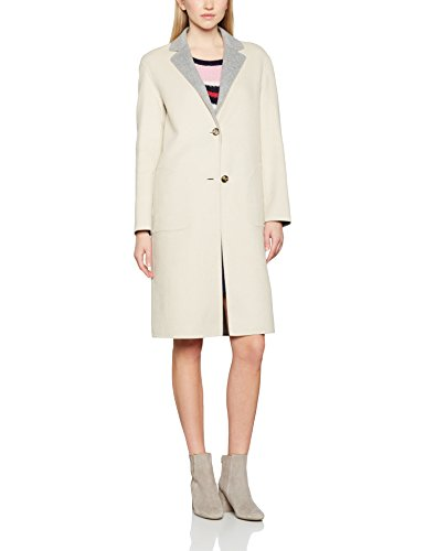 Tommy Hilfiger Damen Mantel New Giselle DF Reversible Wool Coat, Mehrfarbig (Oatmeal/Light Grey Htr 902), 42 (Herstellgröße: 12)