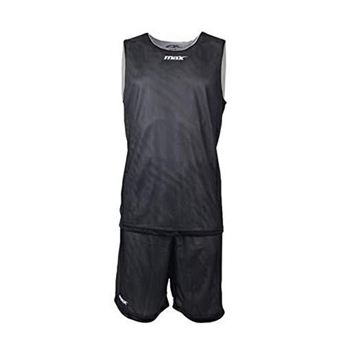 Max Basketball Wendetrikot Set Trikot und Shorts Double - schwarz/weiß Gr. M