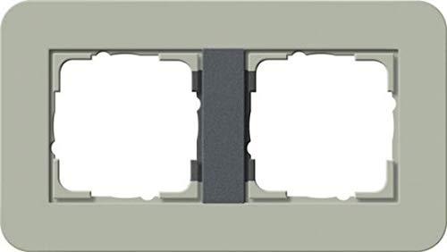 Gira 0212425 Abdeckrahmen E3 2-Fach, graugrün/anthrazit - Best Price