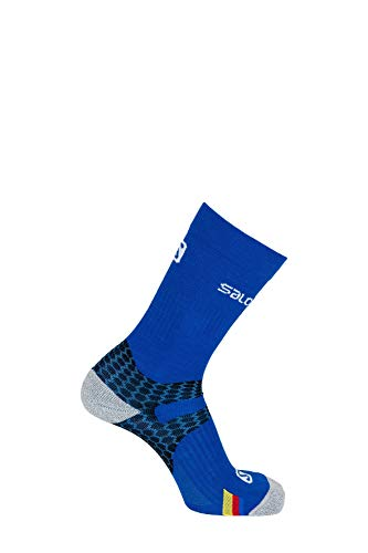 Salomon 1 Paar Leichte Unisex-Socken, Nordic Exo, blau (union blue)/schwarz, Größe M (39-41), L37885100