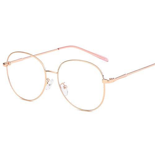 Multi-Frames brillengestell Brillenfassungen Brillen Flacher Spiegel des großen Rahmens dünnes Gesicht ultraleichte Metallgläser, goldener Rahmen