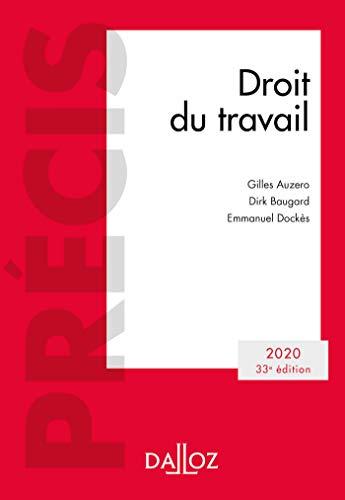 Droit du travail 2020 - 33e éd.: Édition 2020 par Gilles Auzero